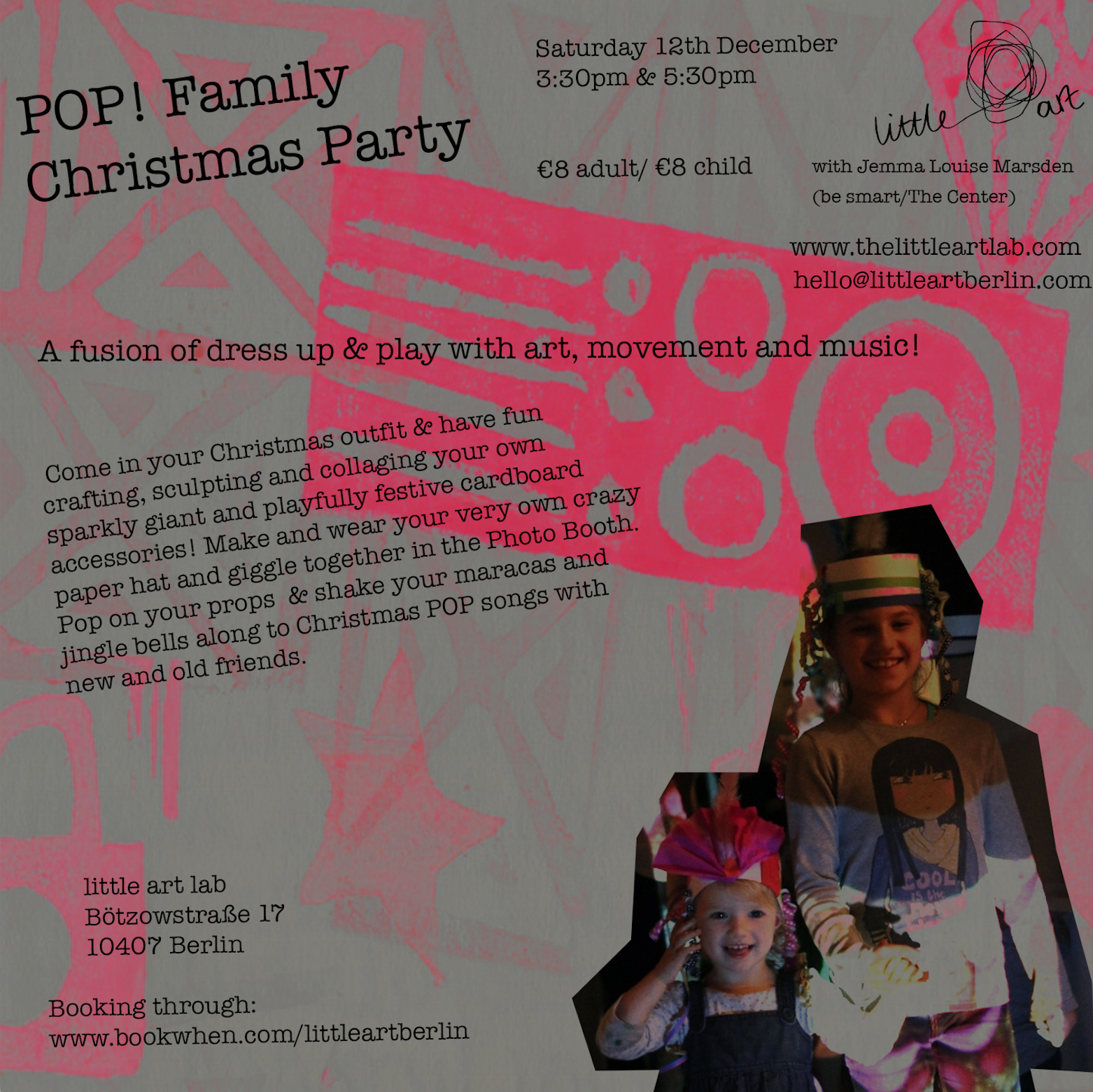 pop christmas art party for families - Pop Christmas Music