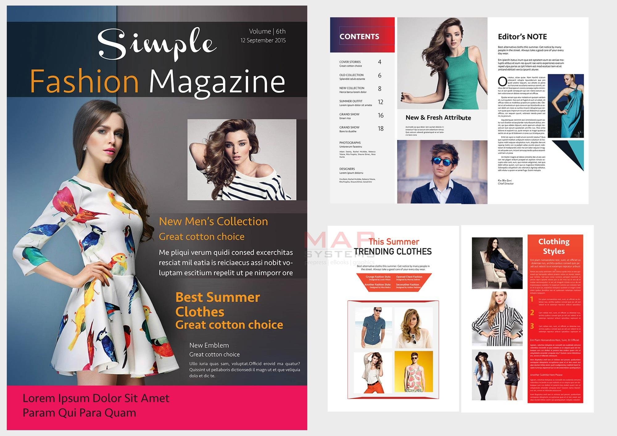 Fashion magazine layout design artconnect for Designs magazine