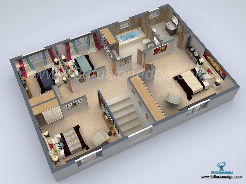 ... Architectural 3d Floor Plan. Big