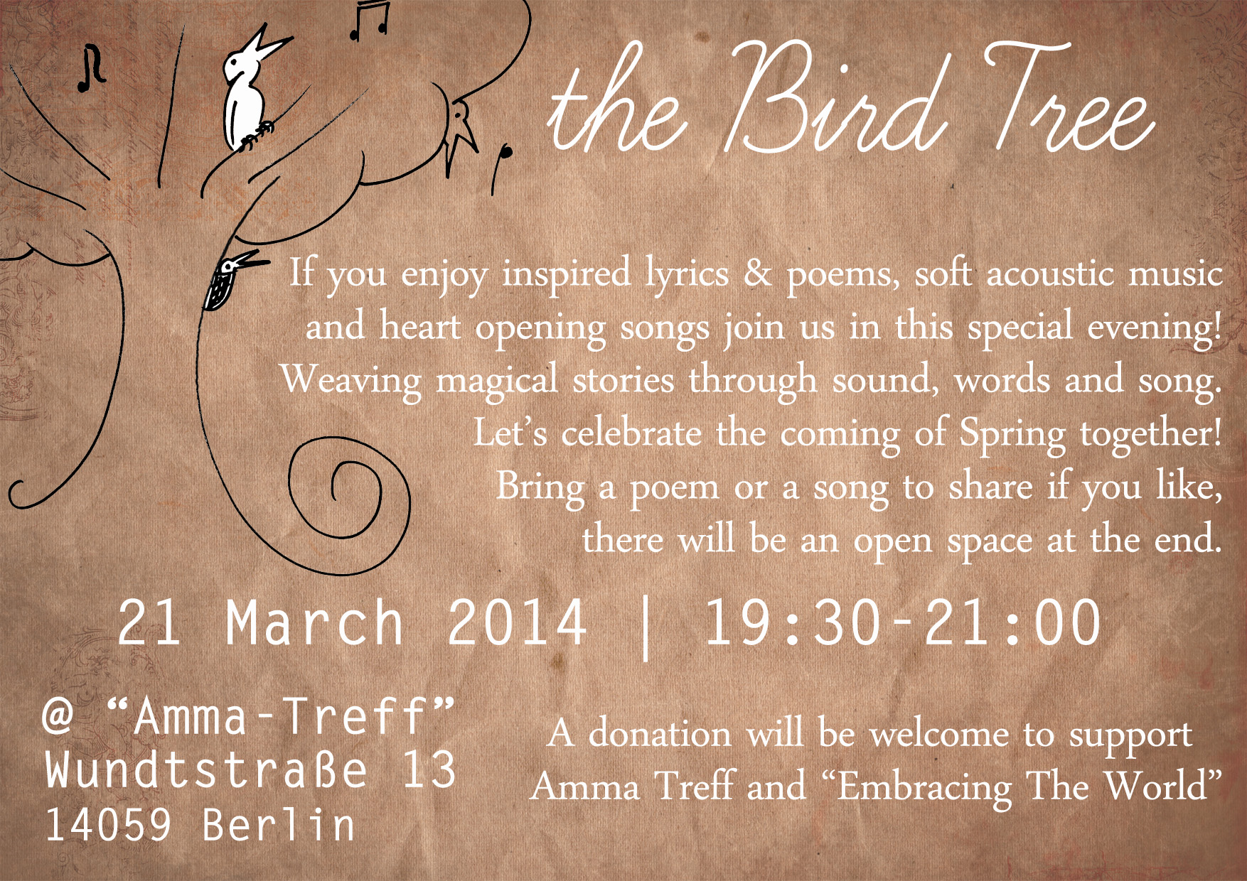 The BirdTree - poems, sotries, songs to celebrate spring | ARTCONNECT