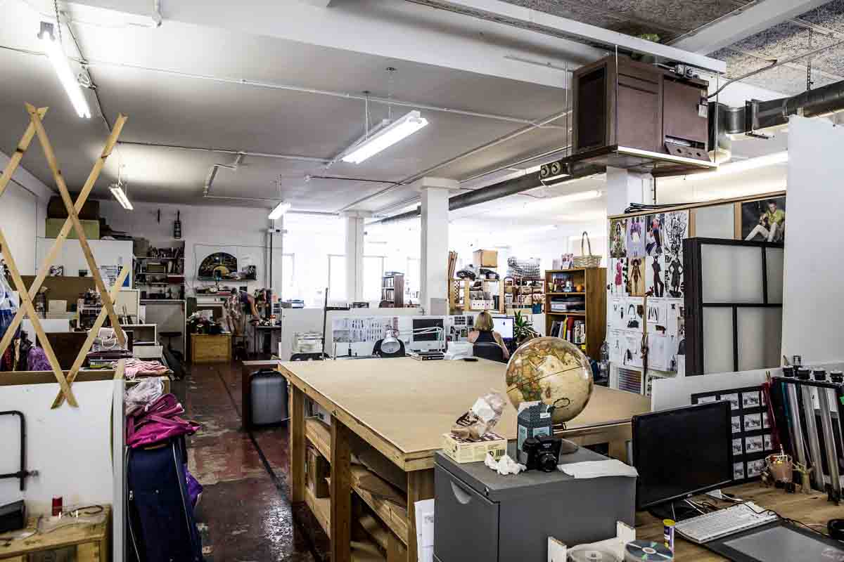 Artist studio space in hackney semi open plan artconnect for Repurpose inground swimming pool
